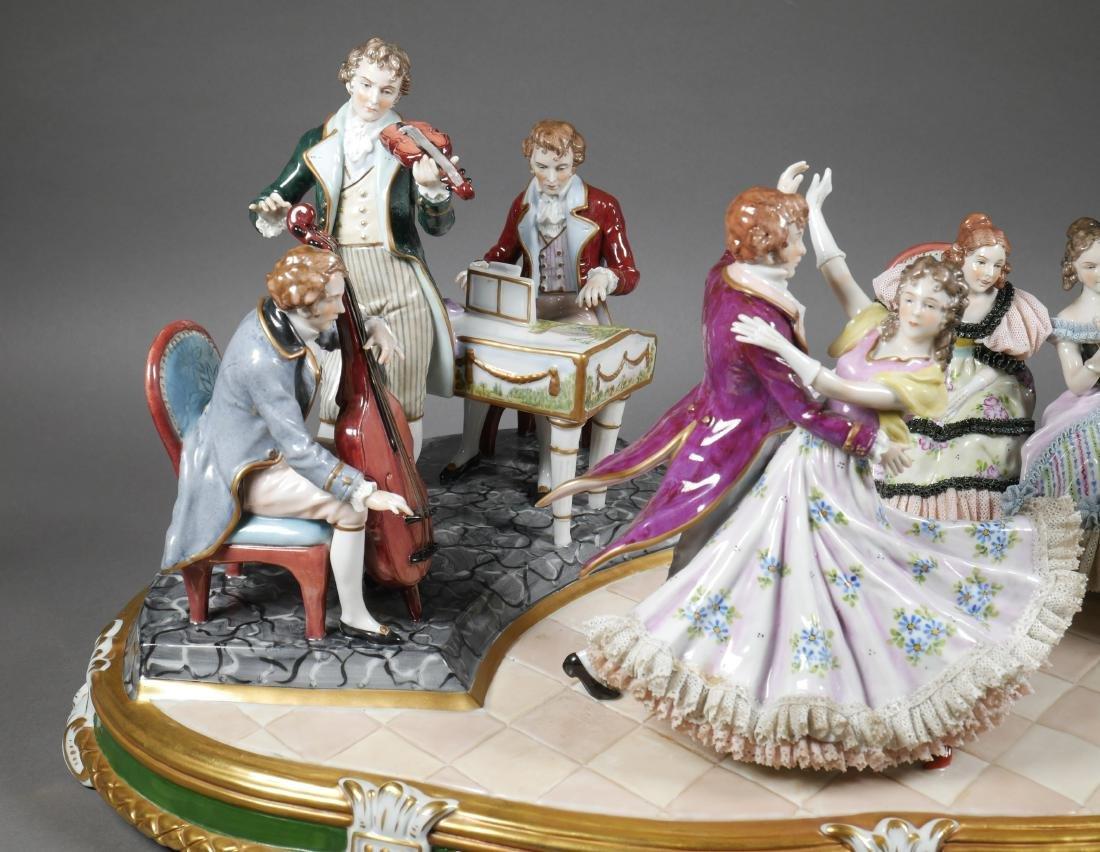 Antique Porcelain Figural Group Dresden Sitzendorf - 5