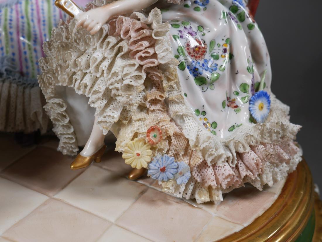 Antique Porcelain Figural Group Dresden Sitzendorf - 6