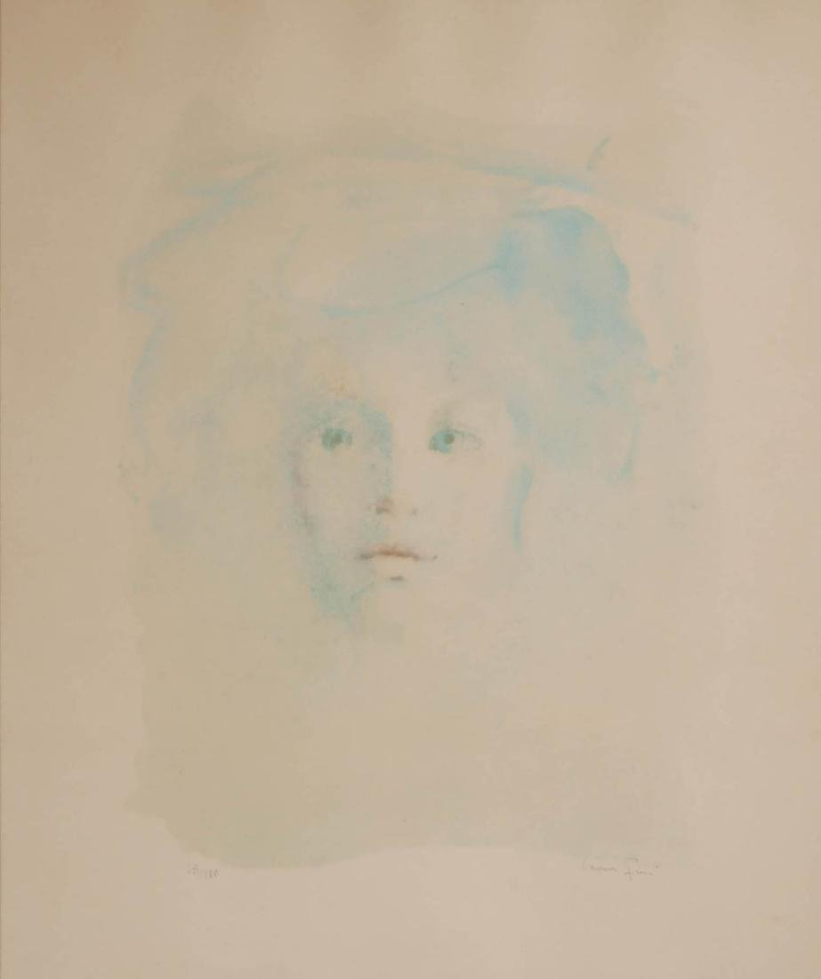 Leonor Fini Color Lithograph of a Young Girl