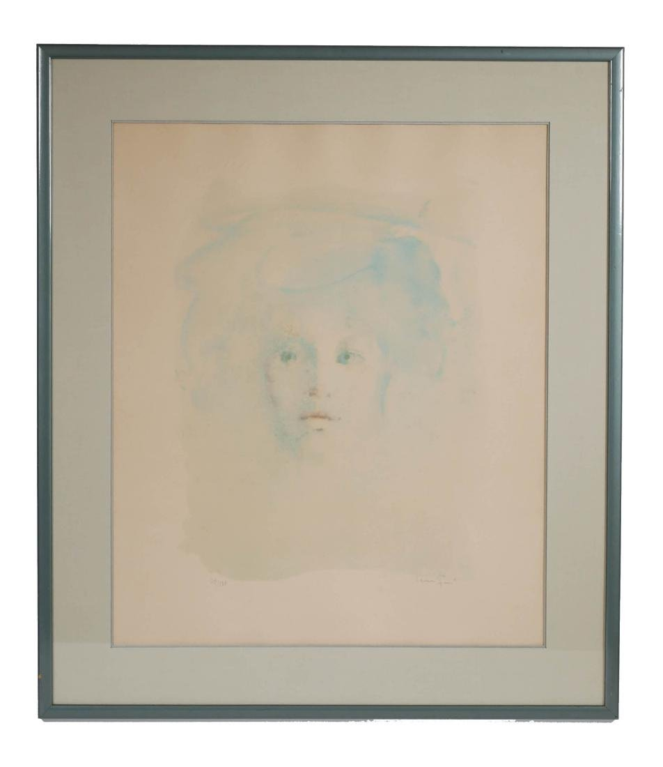 Leonor Fini Color Lithograph of a Young Girl - 2