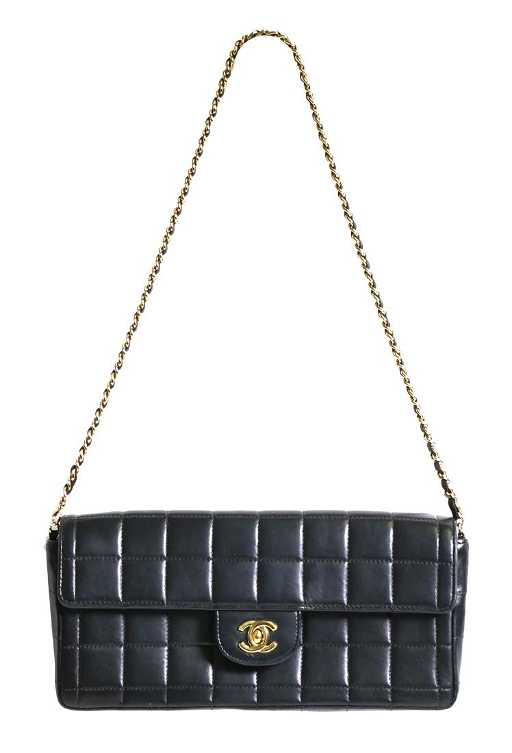 b2806821c256 Chanel Chocolate Bar Quilted Shoulder Bag / Clutch