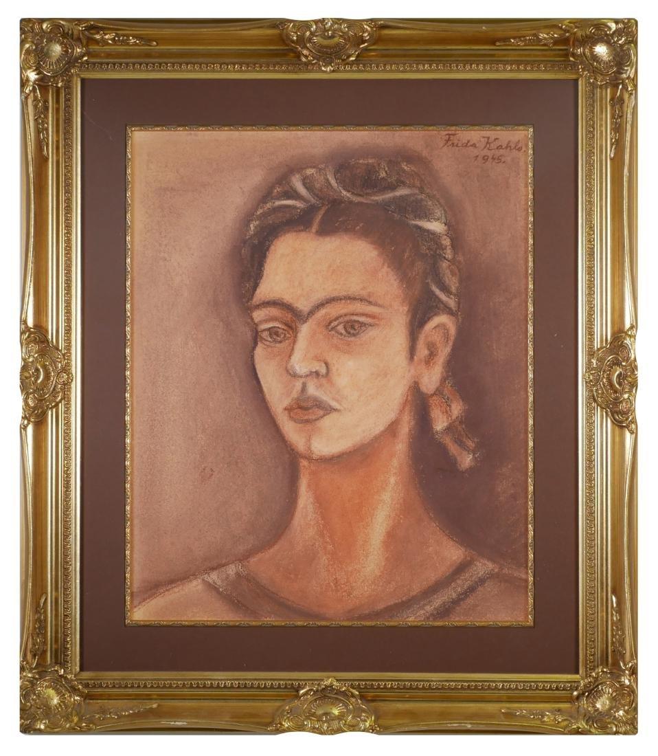 Pastel Portrait, Style of Frida Kahlo - 2