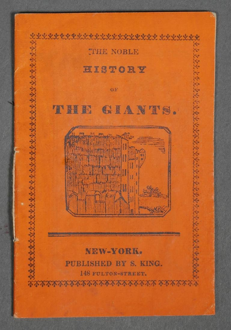 Rare Solomon King Chapbook History of Giants