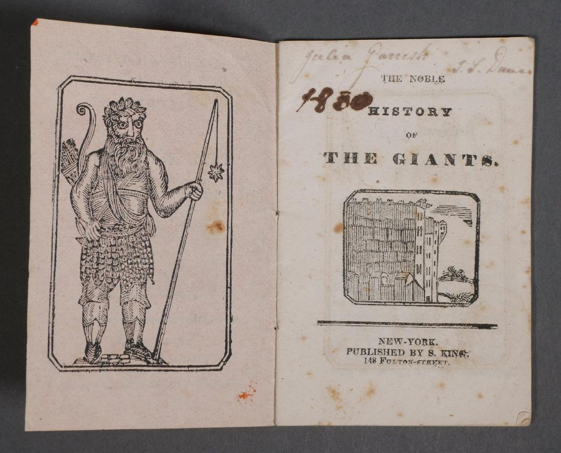 Rare Solomon King Chapbook History of Giants - 2
