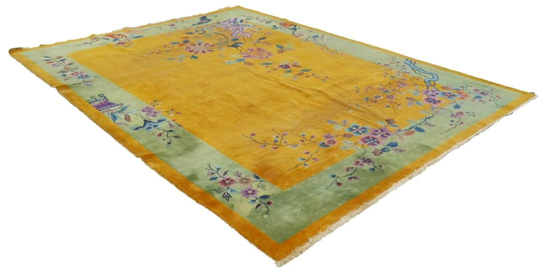 Chinese Nichols Art Deco Area Rug in Yellow