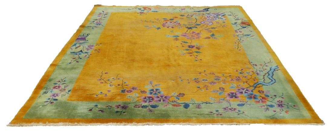 Chinese Nichols Art Deco Area Rug in Yellow - 2