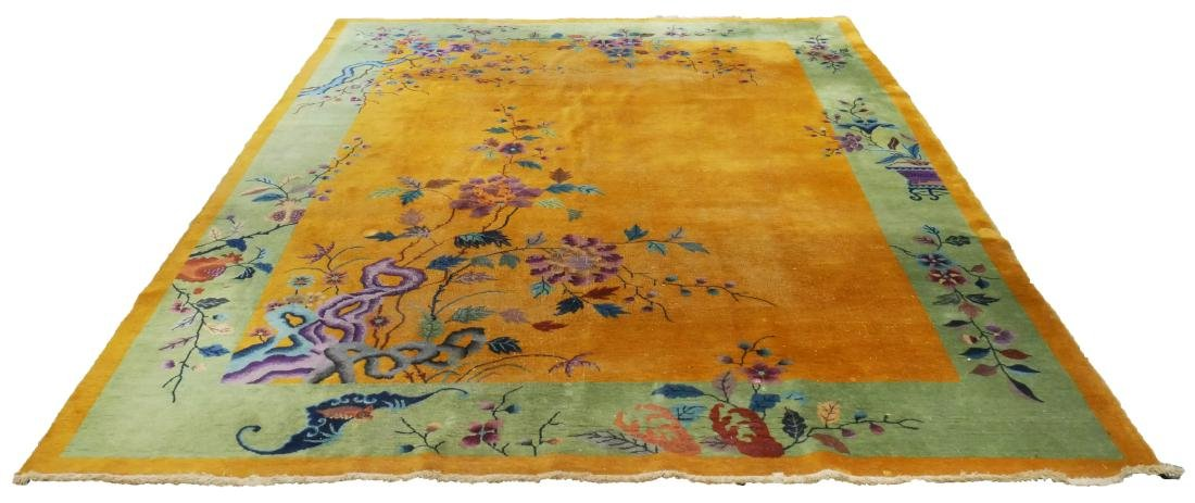 Chinese Nichols Art Deco Area Rug in Yellow - 3