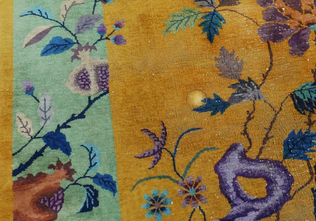 Chinese Nichols Art Deco Area Rug in Yellow - 6