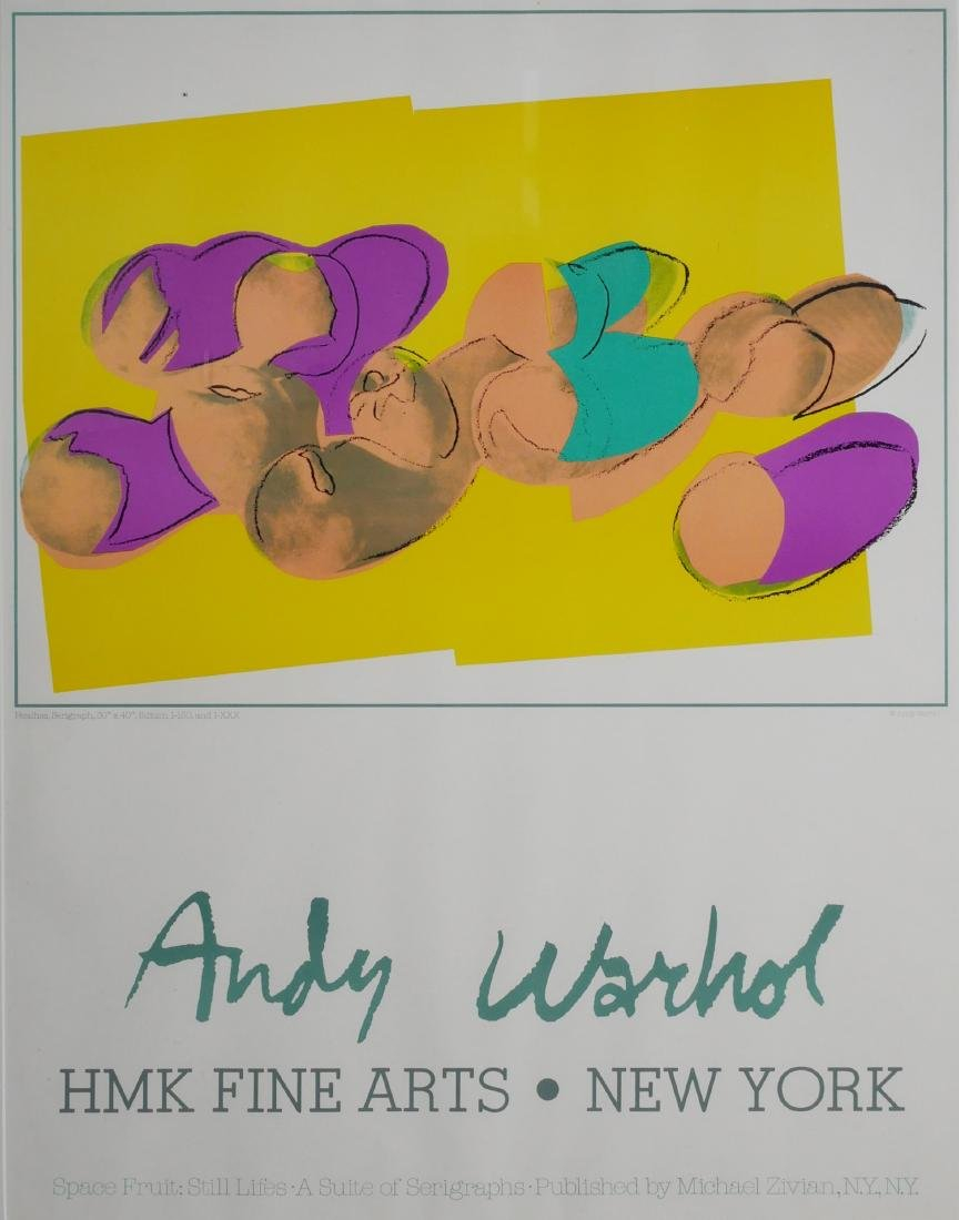 Andy Warhol Space Fruit Peaches Gallery Poster