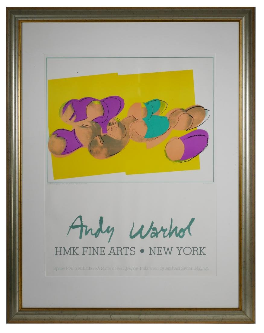 Andy Warhol Space Fruit Peaches Gallery Poster - 2