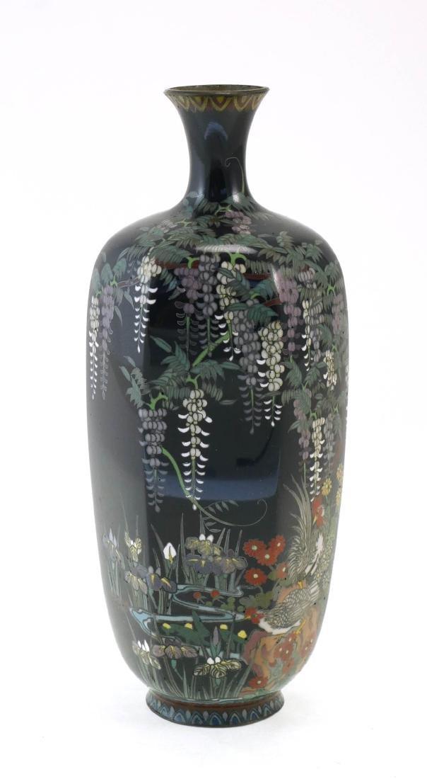 Old Miniature Japanese Cloisonne Vase