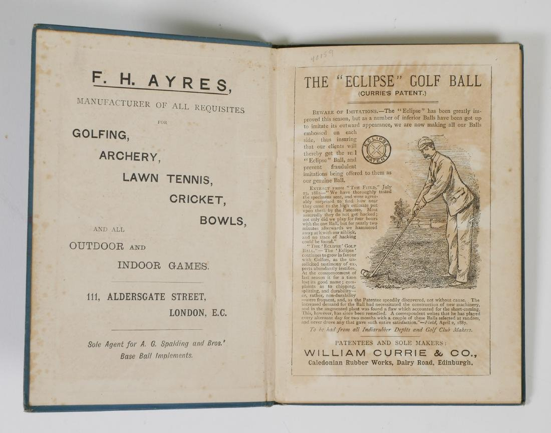 Rare 1889 Golf Instruction Book, W.T. Linskill - 5