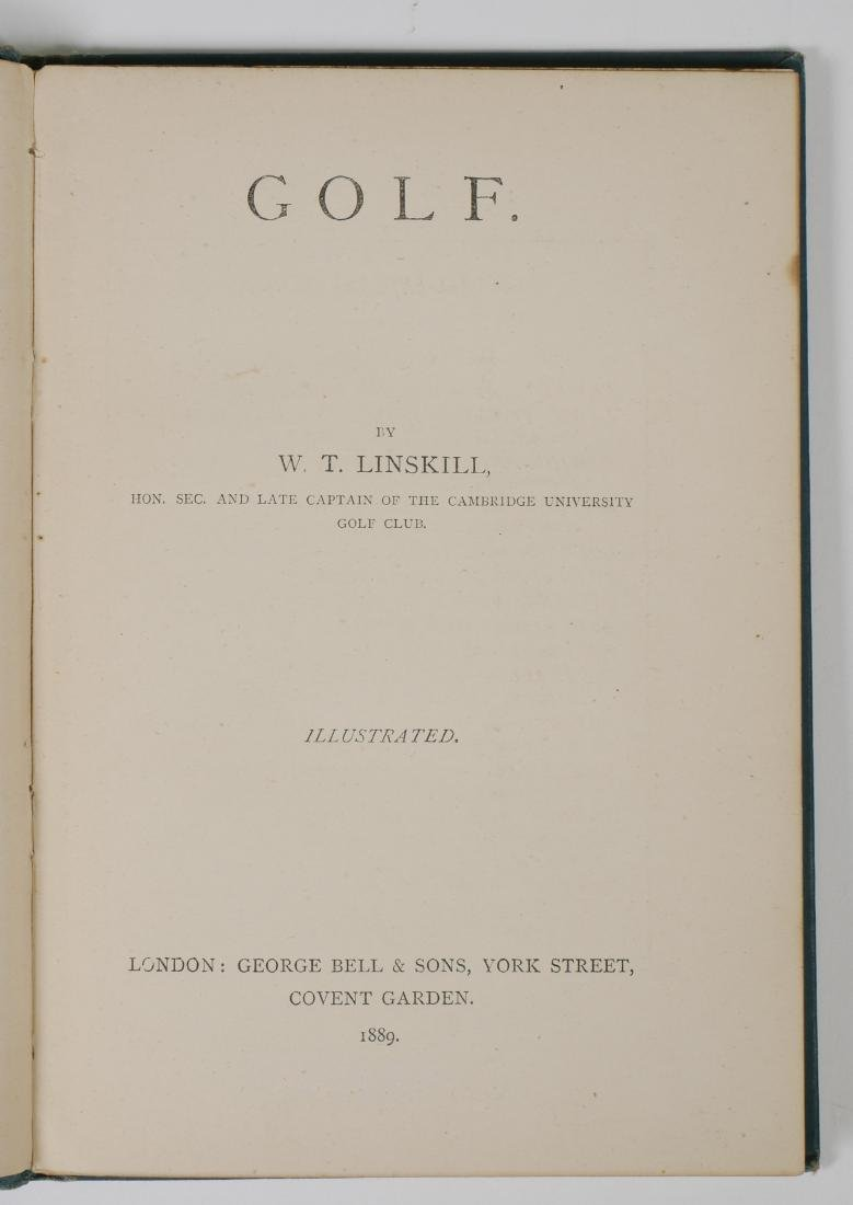 Rare 1889 Golf Instruction Book, W.T. Linskill - 6