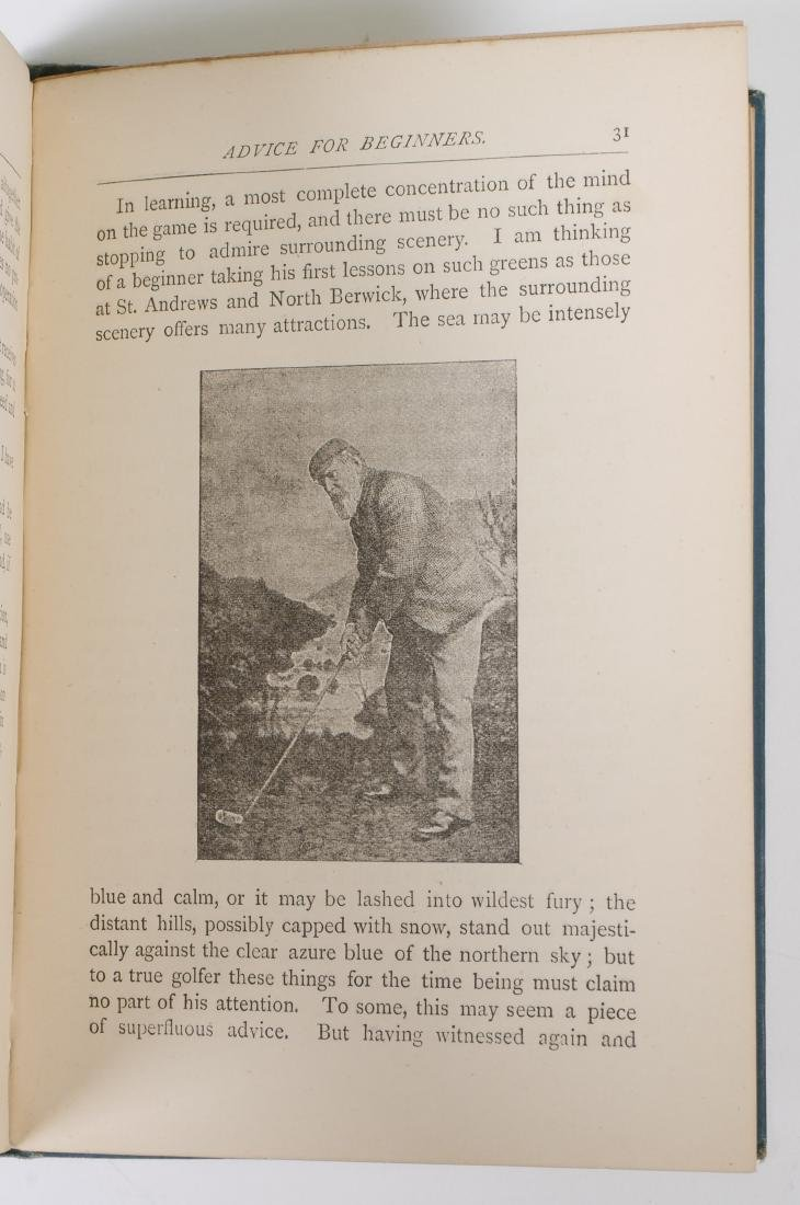 Rare 1889 Golf Instruction Book, W.T. Linskill - 7