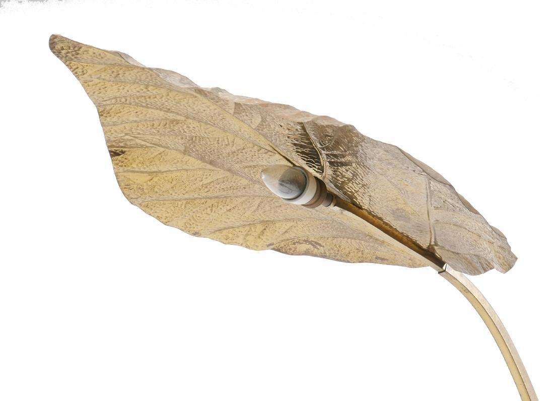 Tommaso Barbi Italian Brass Leaf Table Lamp - 4