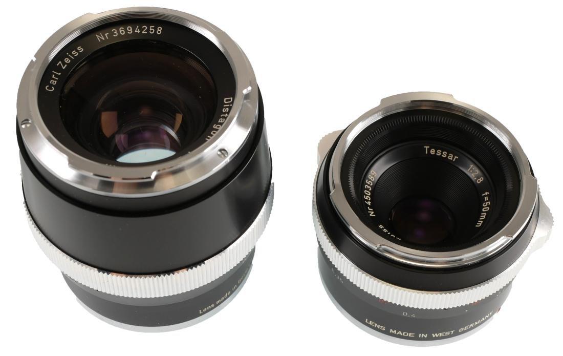 2 Carl Zeiss Lenses, Tessar & Distagon