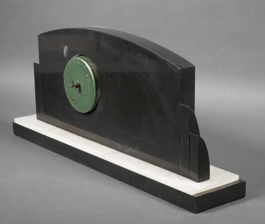 Art Deco Marble & Onyx Elephant Mantel Clock - 5