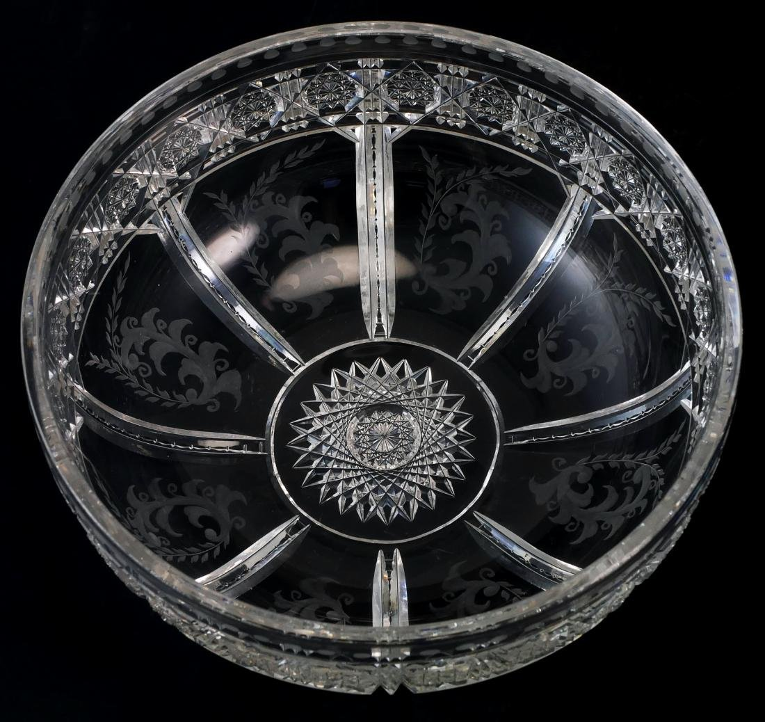 Cut Glass Low Serving Bowl - ABP - 2