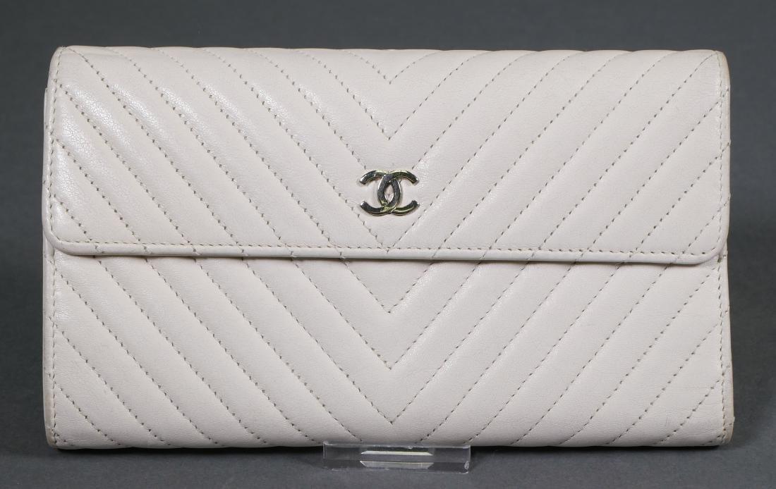 Chanel Authentic Chevron Pattern Wallet