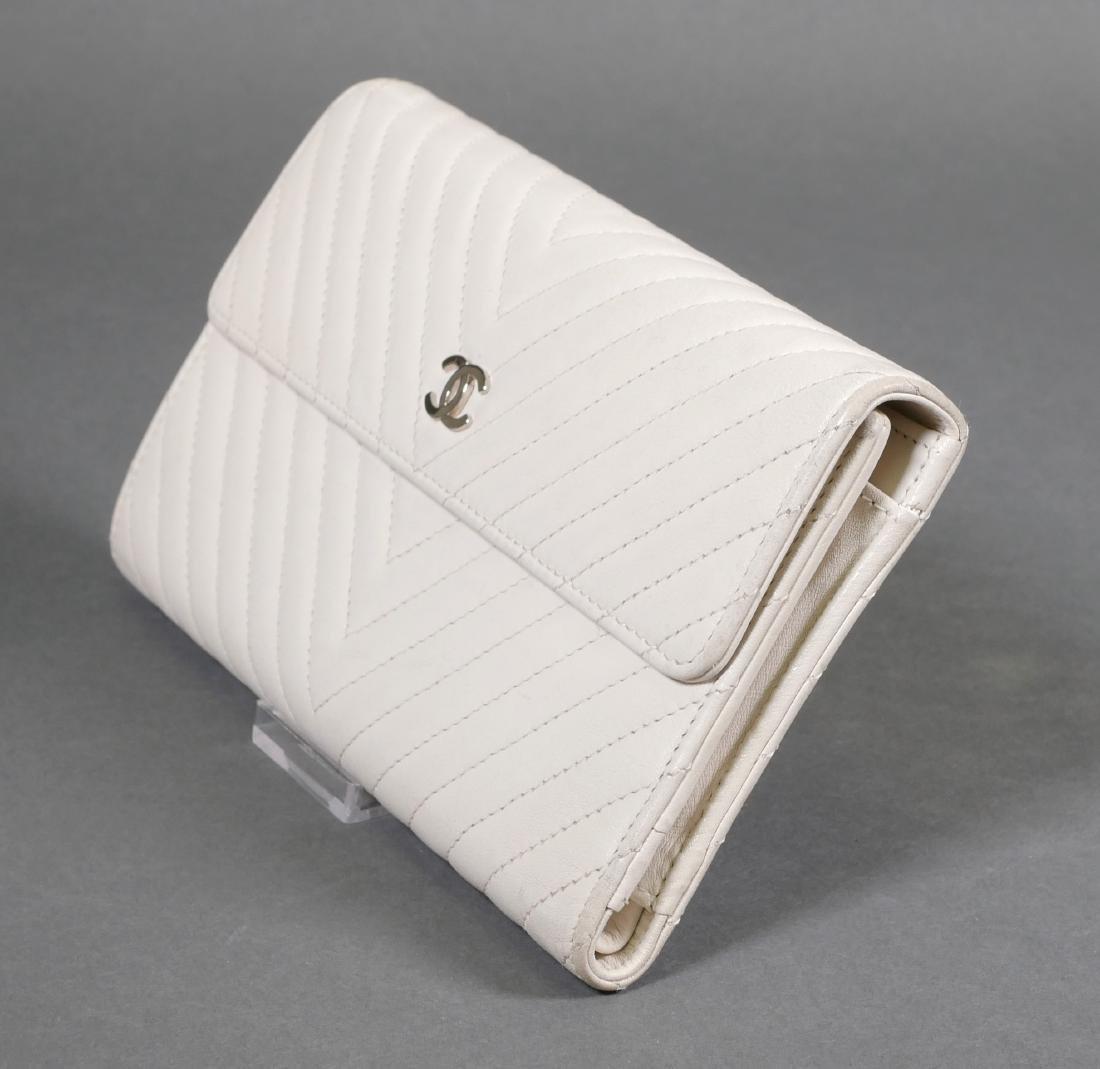 Chanel Authentic Chevron Pattern Wallet - 2