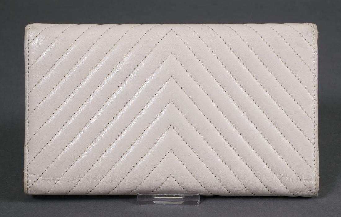 Chanel Authentic Chevron Pattern Wallet - 3