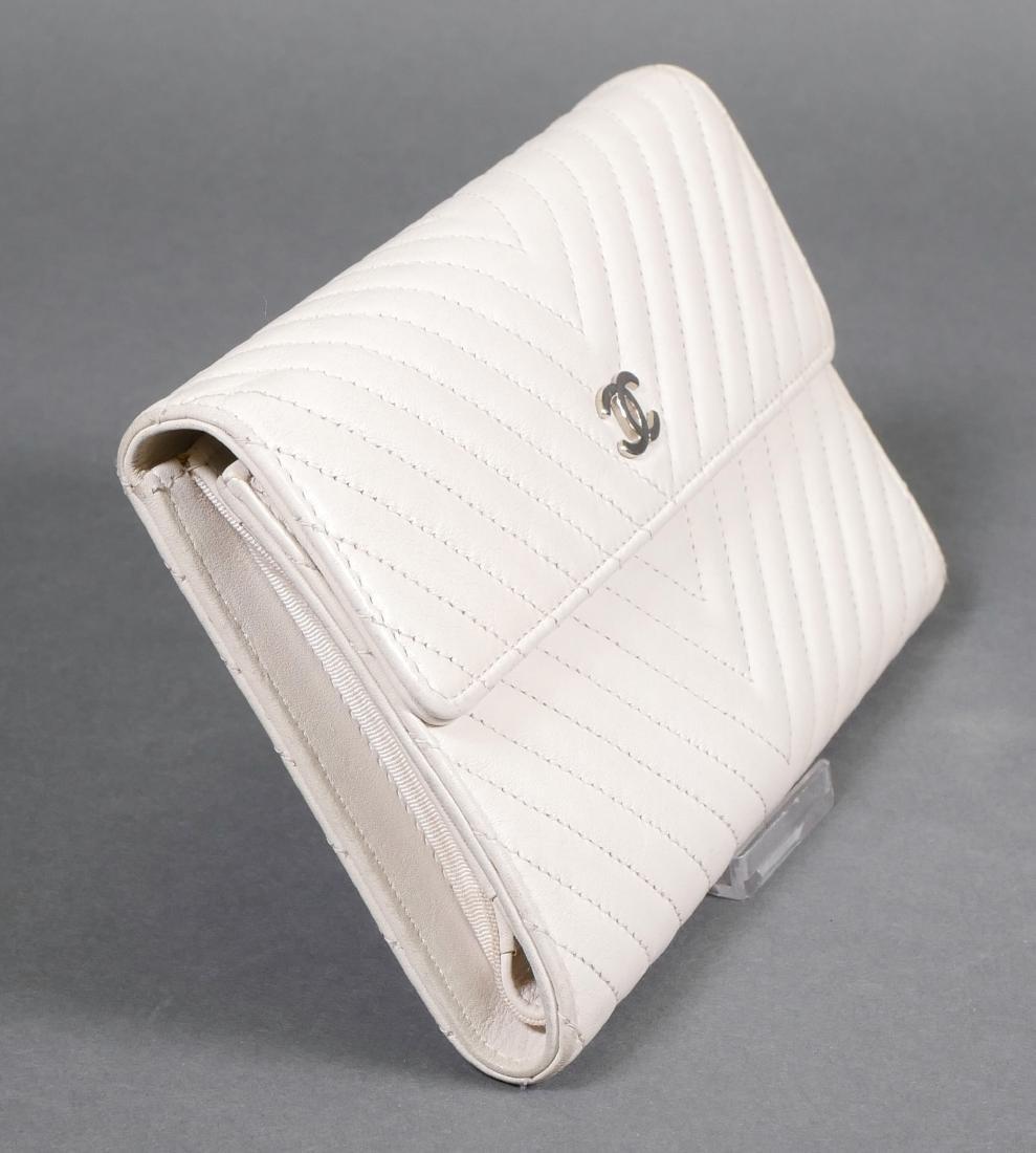 Chanel Authentic Chevron Pattern Wallet - 4