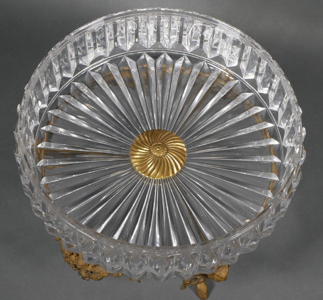 Baccarat Style Cut Crystal Centerpiece Bowl - 3