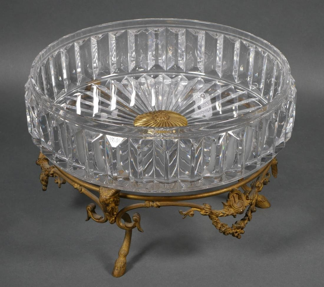 Baccarat Style Cut Crystal Centerpiece Bowl - 4
