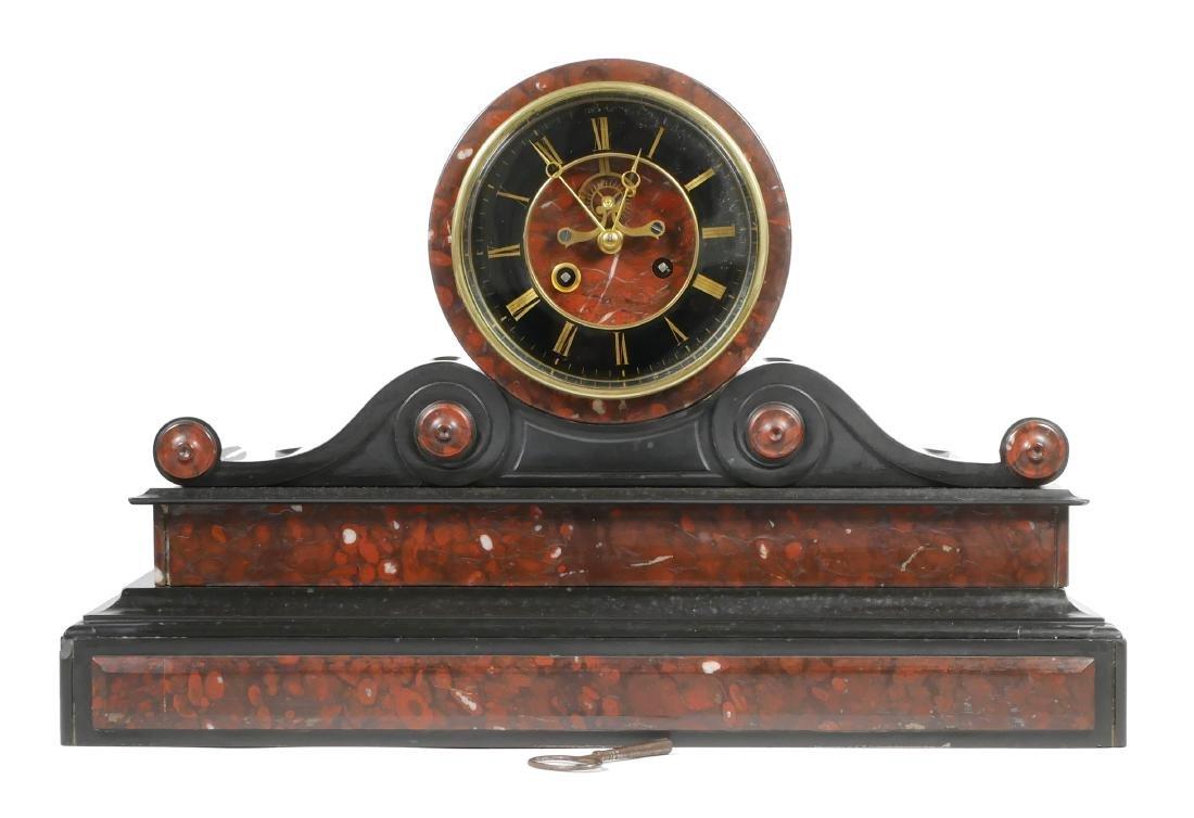 Detouche Open Escapement French Mantel Clock