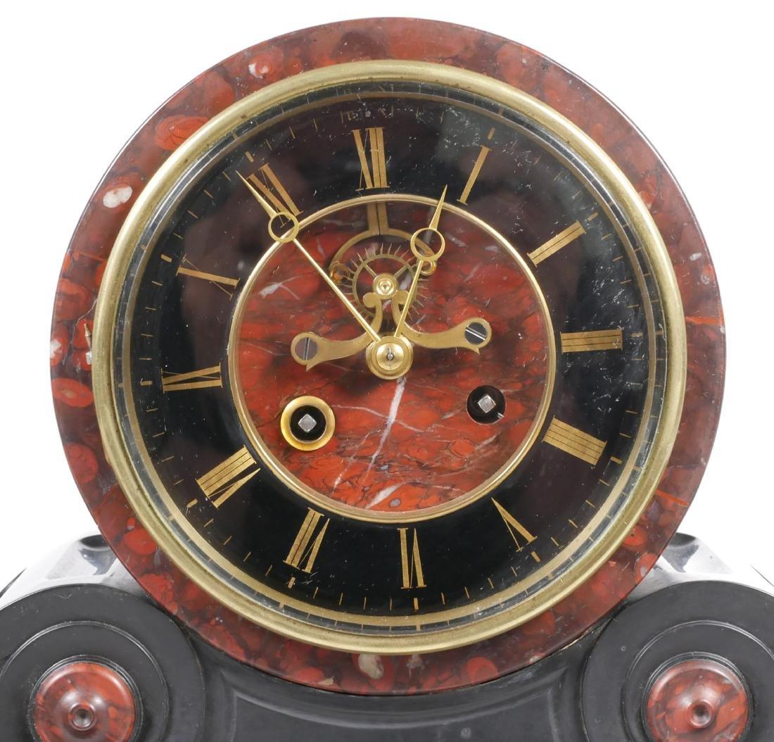 Detouche Open Escapement French Mantel Clock - 2