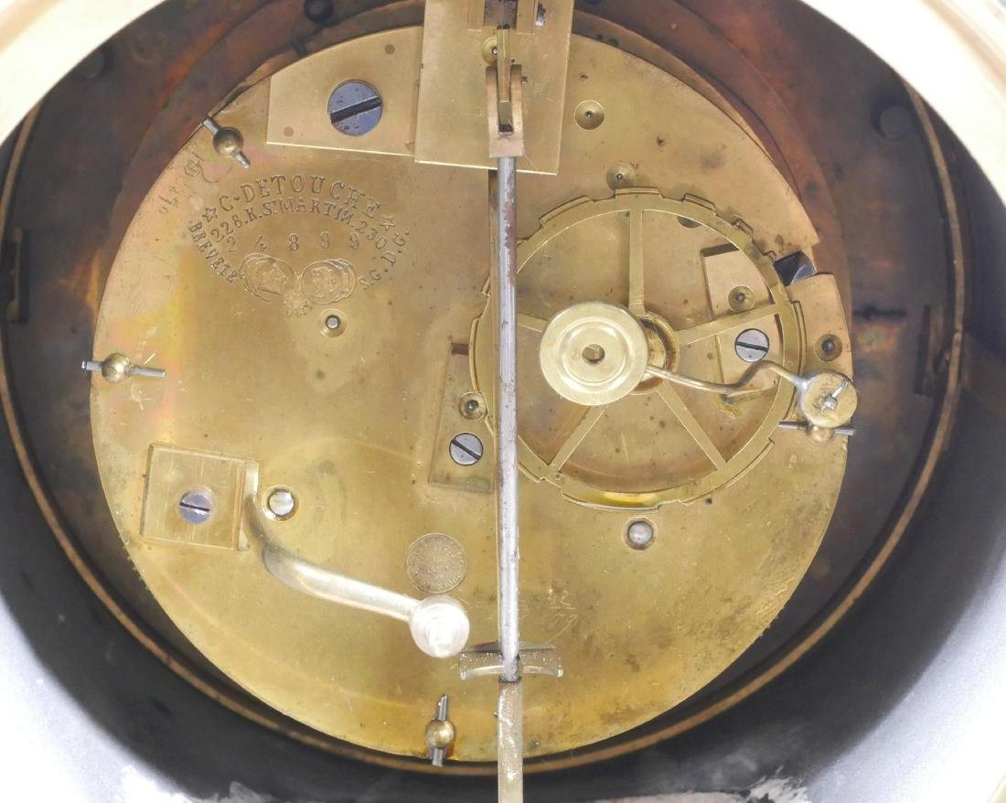 Detouche Open Escapement French Mantel Clock - 5