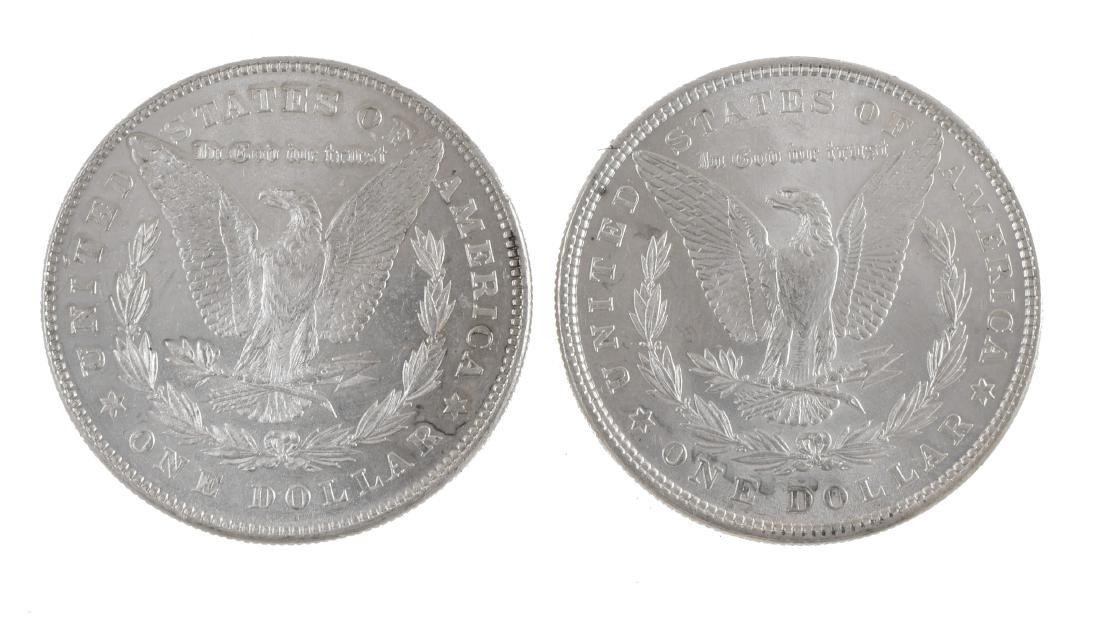 Two 1878 Uncirculated Morgan Silver Dollars - 2