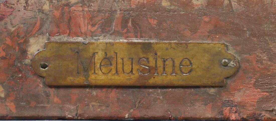 Antique Art Nouveau Chalkware Bust - 6