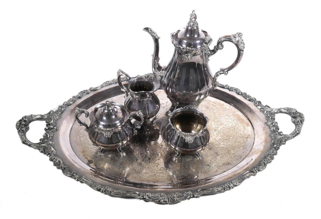Wallace Baroque Silver Plated Tea Service