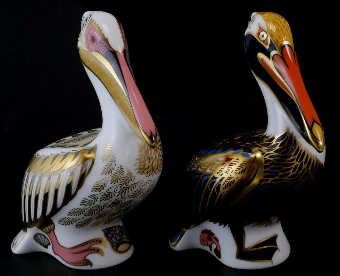 Pair Royal Crown Derby Limited White Pelicans