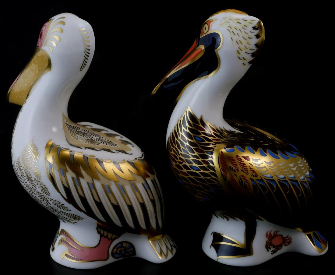 Pair Royal Crown Derby Limited White Pelicans - 3