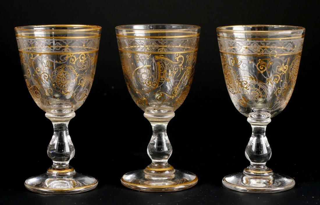 Gilt Cordial Set w/Decanter & 3 Glasses - 2