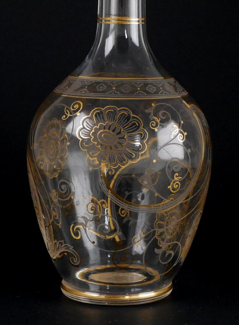 Gilt Cordial Set w/Decanter & 3 Glasses - 4