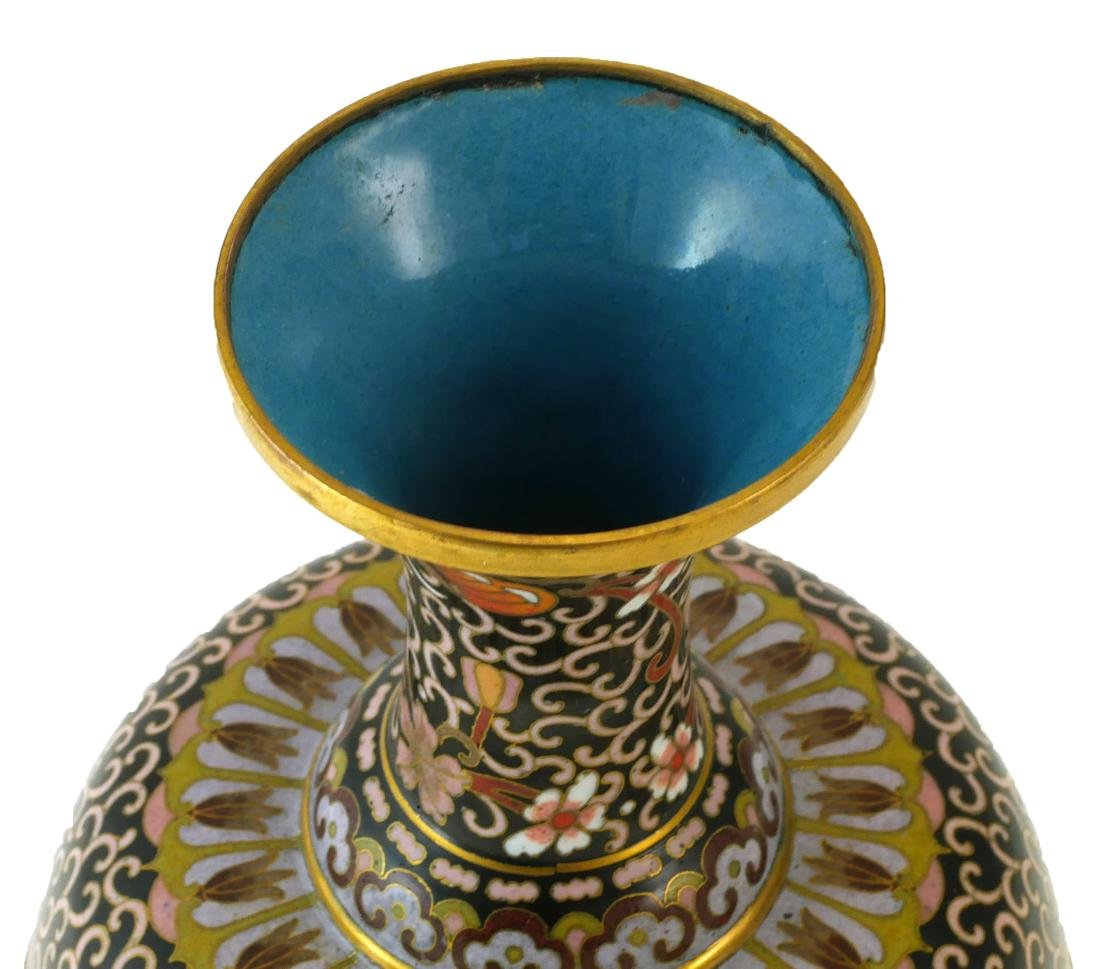 Chinese Cloisonne Lidded Compote - 4