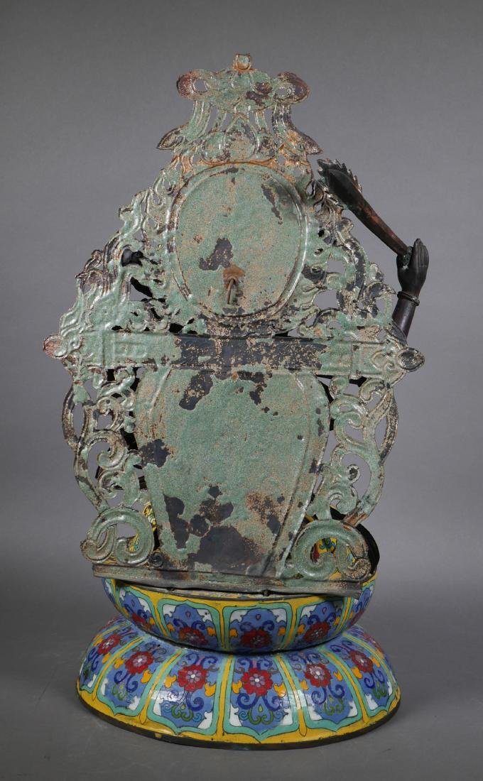 Antique Cloisonne Enamel Tara Buddha - 3