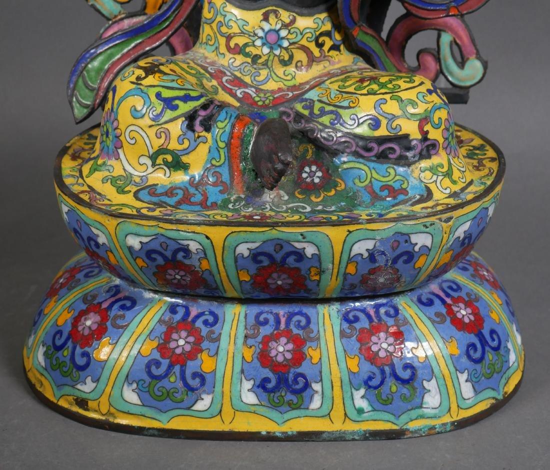 Antique Cloisonne Enamel Tara Buddha - 5