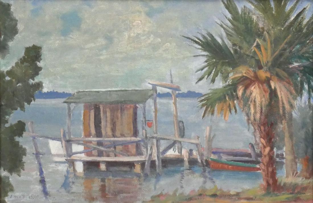 1947 Emmett Sutton Impressionist Painting