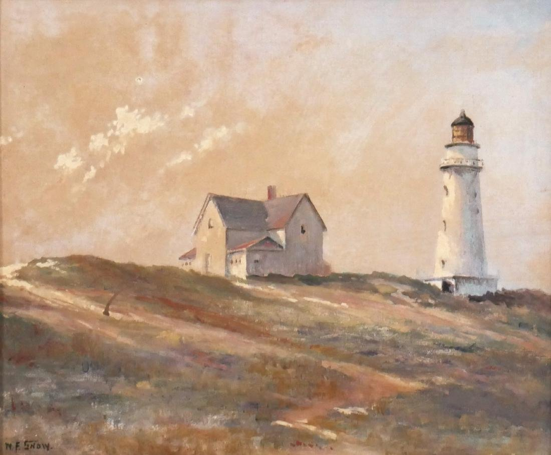 W.F. Snow Cape Cod Lighthouse Painting