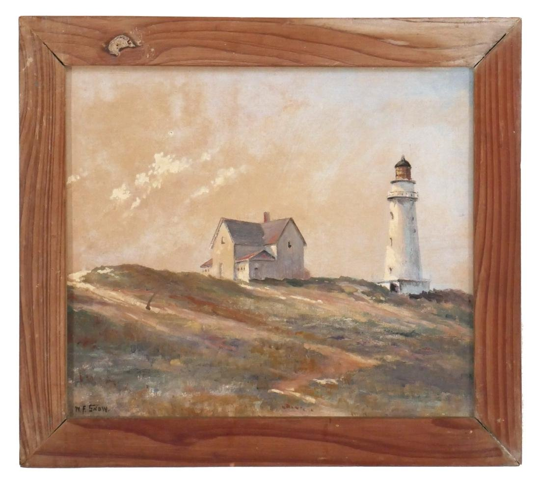 W.F. Snow Cape Cod Lighthouse Painting - 2