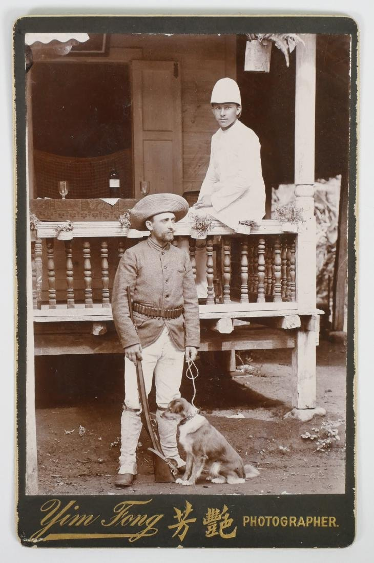 British Indian Army Cabinet Card Photograph