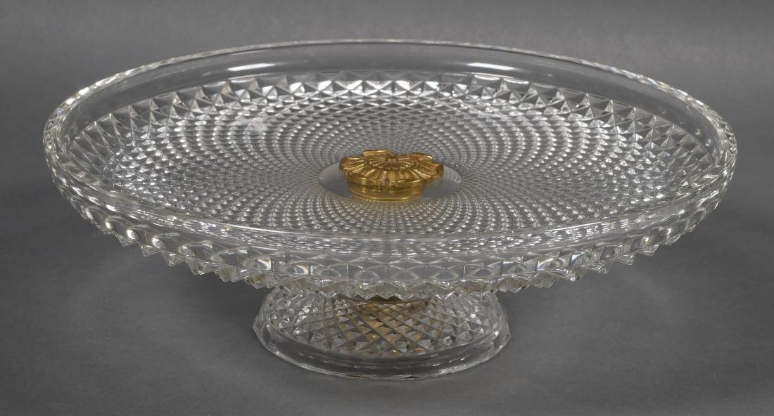 Baccarat Style Large Cut-Crystal Compote