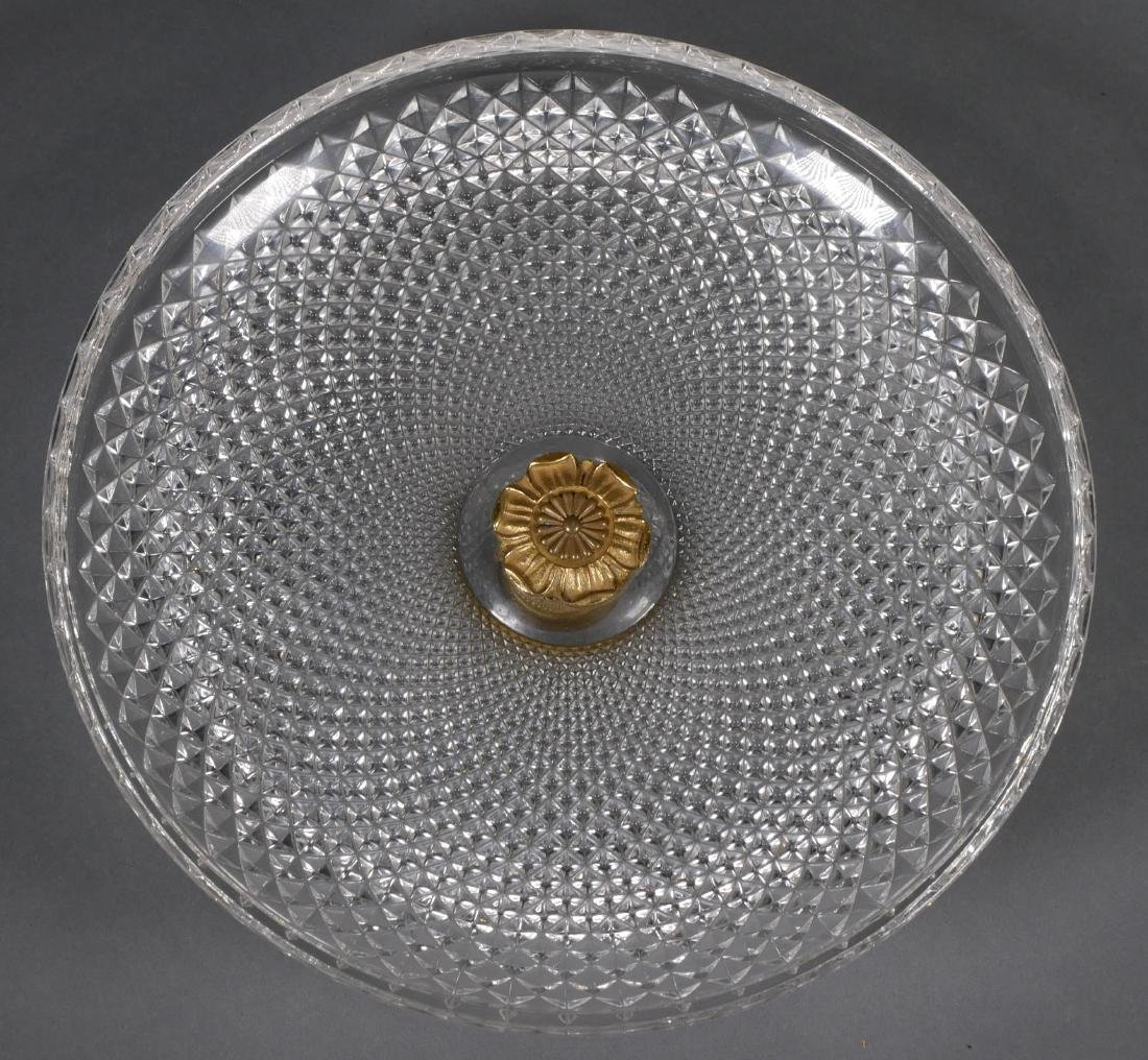 Baccarat Style Large Cut-Crystal Compote - 3