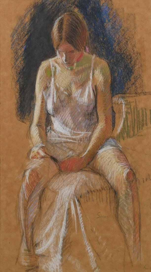 Maggie Siner Pastel Drawing of a Young Girl