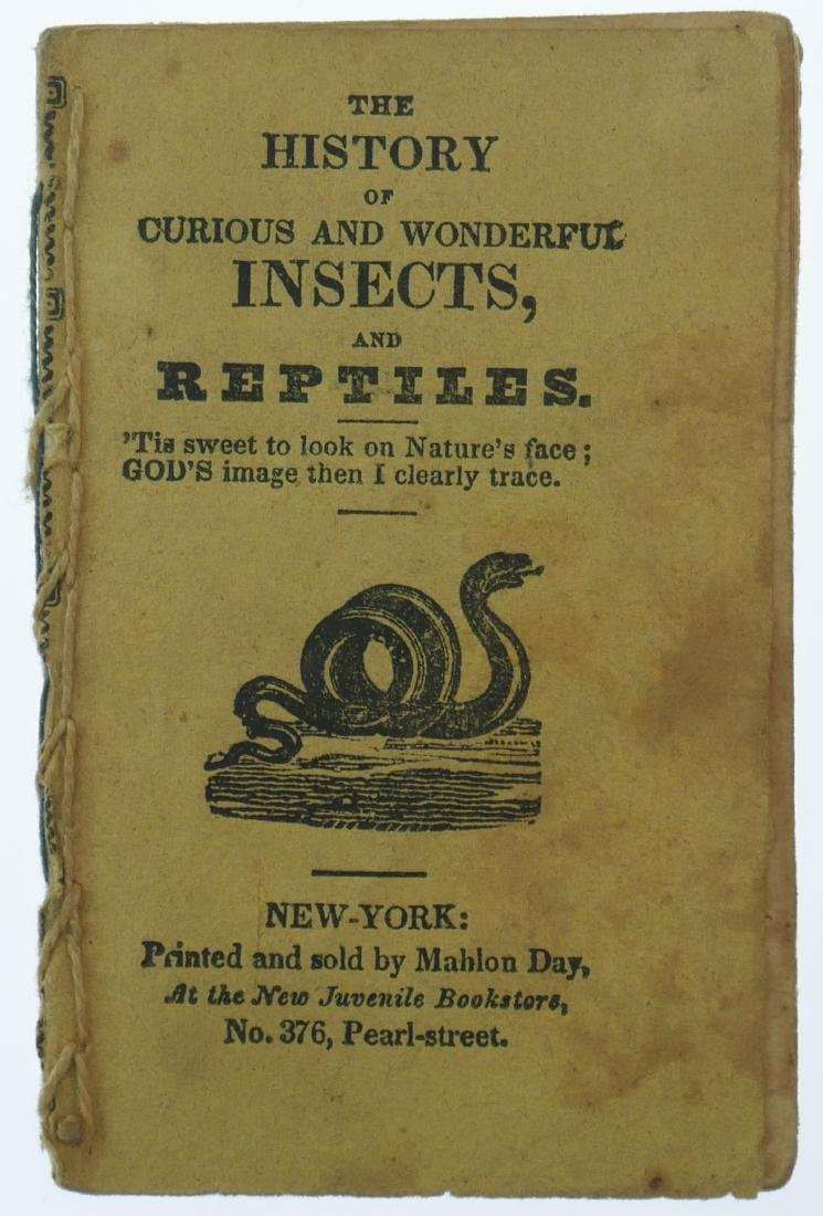 1820s Chapbook History of Insects & Reptiles