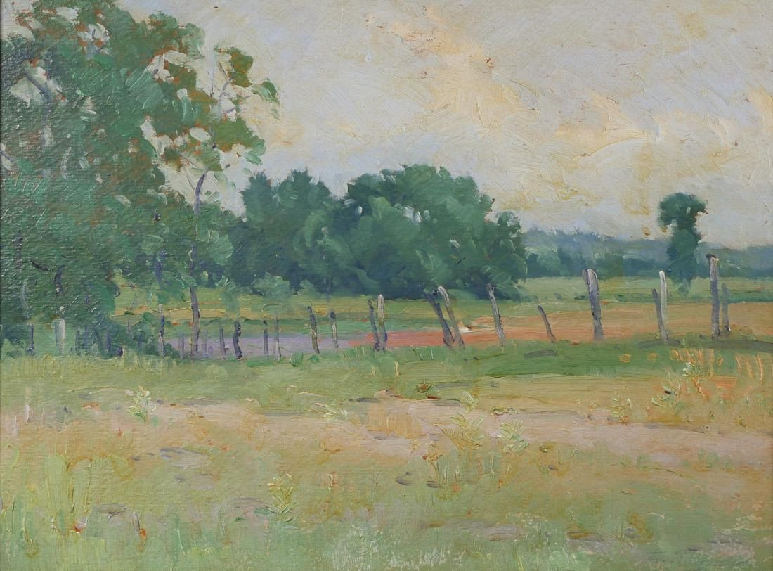 Early 20C Impressionist Oil on Board Painting